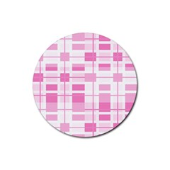 Pattern Rubber Coaster (round)  by Valentinaart