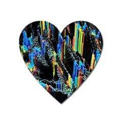 Abstract 3d Blender Colorful Heart Magnet by Simbadda