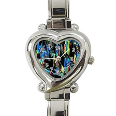 Abstract 3d Blender Colorful Heart Italian Charm Watch by Simbadda