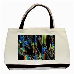 Abstract 3d Blender Colorful Basic Tote Bag (two Sides) by Simbadda