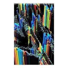 Abstract 3d Blender Colorful Shower Curtain 48  X 72  (small)  by Simbadda
