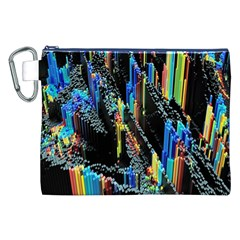 Abstract 3d Blender Colorful Canvas Cosmetic Bag (xxl)