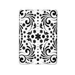 Leaf Flower Floral Black Ipad Mini 2 Hardshell Cases by Alisyart