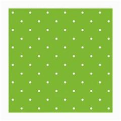 Mages Pinterest Green White Polka Dots Crafting Circle Medium Glasses Cloth (2 Side) by Alisyart