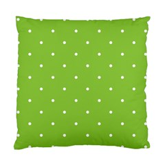 Mages Pinterest Green White Polka Dots Crafting Circle Standard Cushion Case (one Side) by Alisyart