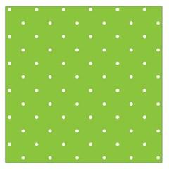 Mages Pinterest Green White Polka Dots Crafting Circle Large Satin Scarf (square) by Alisyart
