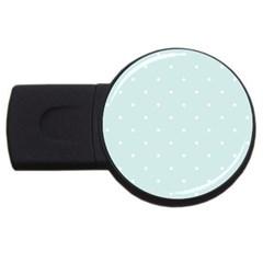 Mages Pinterest White Blue Polka Dots Crafting  Circle Usb Flash Drive Round (2 Gb) by Alisyart
