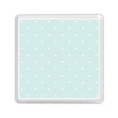 Mages Pinterest White Blue Polka Dots Crafting  Circle Memory Card Reader (square)  by Alisyart
