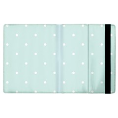 Mages Pinterest White Blue Polka Dots Crafting  Circle Apple Ipad 3/4 Flip Case by Alisyart