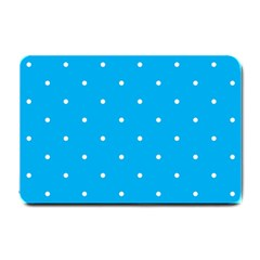 Mages Pinterest White Blue Polka Dots Crafting Circle Small Doormat  by Alisyart