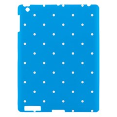 Mages Pinterest White Blue Polka Dots Crafting Circle Apple Ipad 3/4 Hardshell Case by Alisyart