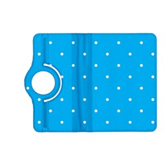 Mages Pinterest White Blue Polka Dots Crafting Circle Kindle Fire Hd (2013) Flip 360 Case by Alisyart