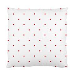 Mages Pinterest White Red Polka Dots Crafting Circle Standard Cushion Case (two Sides) by Alisyart