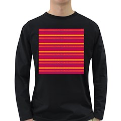 Lines Long Sleeve Dark T Shirts by Valentinaart