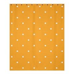 Mages Pinterest White Orange Polka Dots Crafting Shower Curtain 60  X 72  (medium)  by Alisyart