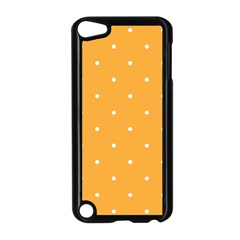 Mages Pinterest White Orange Polka Dots Crafting Apple Ipod Touch 5 Case (black) by Alisyart