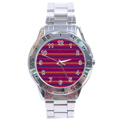 Lines Stainless Steel Analogue Watch by Valentinaart