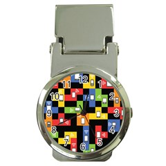 Mobile Phone Signal Color Rainbow Money Clip Watches by Alisyart