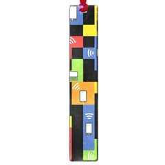 Mobile Phone Signal Color Rainbow Large Book Marks by Alisyart