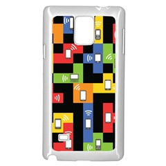 Mobile Phone Signal Color Rainbow Samsung Galaxy Note 4 Case (white) by Alisyart