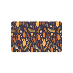 Macaroons Autumn Wallpaper Coffee Magnet (name Card) by Alisyart