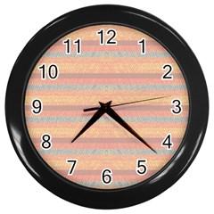 Lines Wall Clocks (black) by Valentinaart