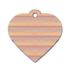 Lines Dog Tag Heart (one Side) by Valentinaart