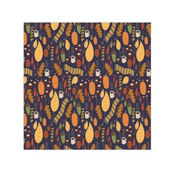 Macaroons Autumn Wallpaper Coffee Small Satin Scarf (square) by Alisyart