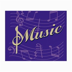 Music Flyer Purple Note Blue Tone Small Glasses Cloth (2 Side) by Alisyart