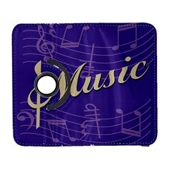 Music Flyer Purple Note Blue Tone Galaxy S3 (flip/folio) by Alisyart