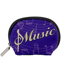 Music Flyer Purple Note Blue Tone Accessory Pouches (small)  by Alisyart