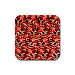 Modern Graphic Rubber Square Coaster (4 Pack)  by Alisyart