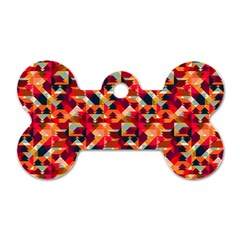 Modern Graphic Dog Tag Bone (two Sides) by Alisyart