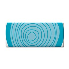 Mustard Logo Hole Circle Linr Blue Cosmetic Storage Cases by Alisyart