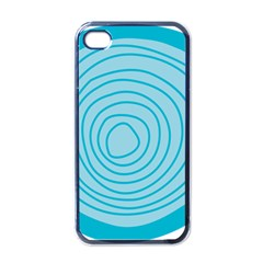 Mustard Logo Hole Circle Linr Blue Apple Iphone 4 Case (black) by Alisyart