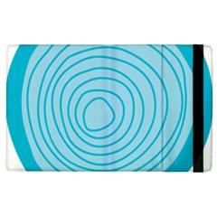 Mustard Logo Hole Circle Linr Blue Apple Ipad 3/4 Flip Case by Alisyart