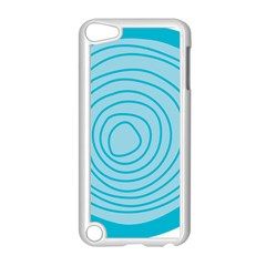 Mustard Logo Hole Circle Linr Blue Apple Ipod Touch 5 Case (white) by Alisyart