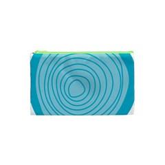 Mustard Logo Hole Circle Linr Blue Cosmetic Bag (xs) by Alisyart