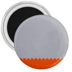 Orange Gray Scallop Wallpaper Wave 3  Magnets by Alisyart