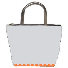 Orange Gray Scallop Wallpaper Wave Bucket Bags by Alisyart
