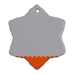 Orange Gray Scallop Wallpaper Wave Snowflake Ornament (two Sides) by Alisyart