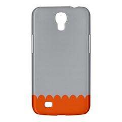 Orange Gray Scallop Wallpaper Wave Samsung Galaxy Mega 6 3  I9200 Hardshell Case by Alisyart