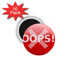 Oops Stop Sign Icon 1 75  Magnets (10 Pack)  by Alisyart