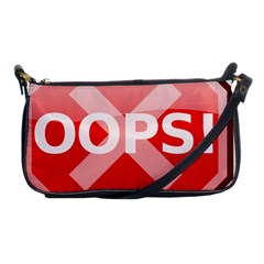 Oops Stop Sign Icon Shoulder Clutch Bags by Alisyart
