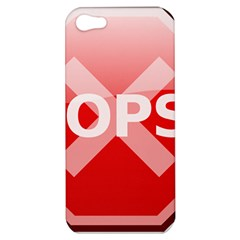 Oops Stop Sign Icon Apple Iphone 5 Hardshell Case by Alisyart