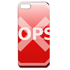 Oops Stop Sign Icon Apple Iphone 5 Hardshell Case With Stand by Alisyart
