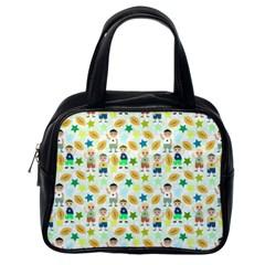 Kids Football Sport Ball Star Classic Handbags (one Side) by Alisyart