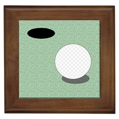 Golf Image Ball Hole Black Green Framed Tiles by Alisyart