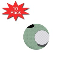 Golf Image Ball Hole Black Green 1  Mini Buttons (10 Pack)  by Alisyart
