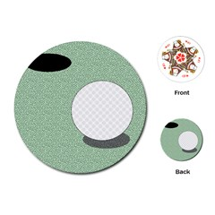 Golf Image Ball Hole Black Green Playing Cards (round)  by Alisyart